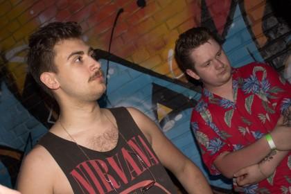 Лидеры групп Jonathan из «BRAINCOATS» и Sebastian из «Lack Of Loud»
