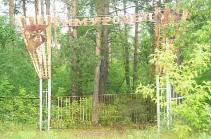 """Вход в лагерь """"Тимуровец"""""""