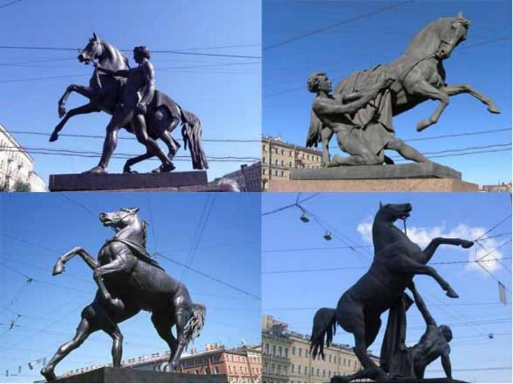 Пётр Клодт. Скульптуры «Укротители коней»
