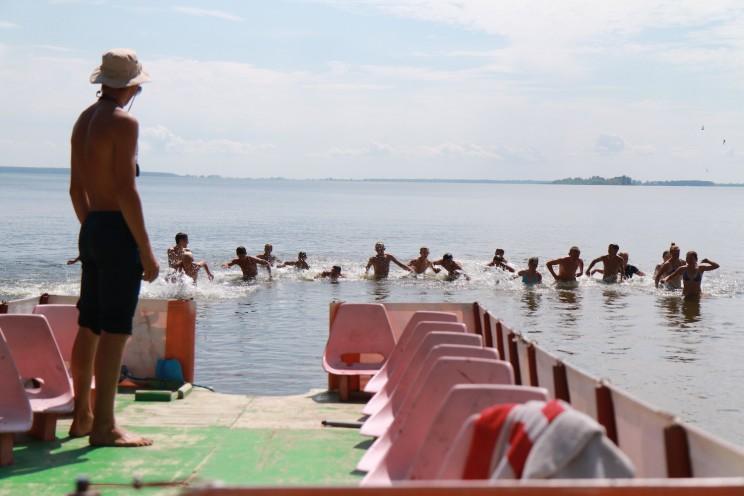 """Катамаран """"Розовый фламинго"""" и водная тренировка"""