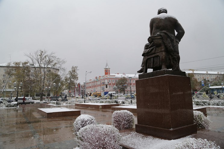Ульяновск зимгтй снег Гончаров