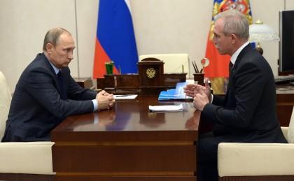 Владимир Путин и Сергей Морозов. Фото: http://kremlin.ru/