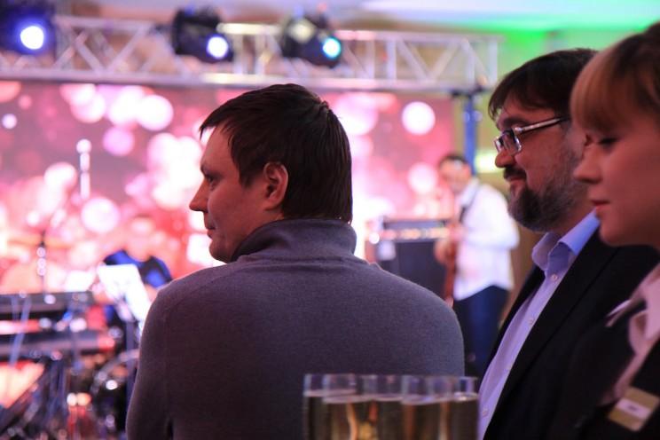 Михаил Родионов на открытие гостиницы Hilton Gardenn Inn в Ульяновске, декабрь 2015 года.