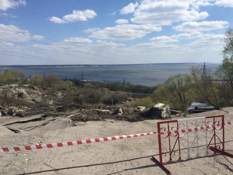 Оползень в центре Ульяновска