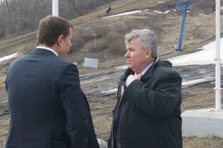 Глава администрации Ульяновска Алексей Гаев (слева) и мэр Ульяновска Сергей Панчин (справа)