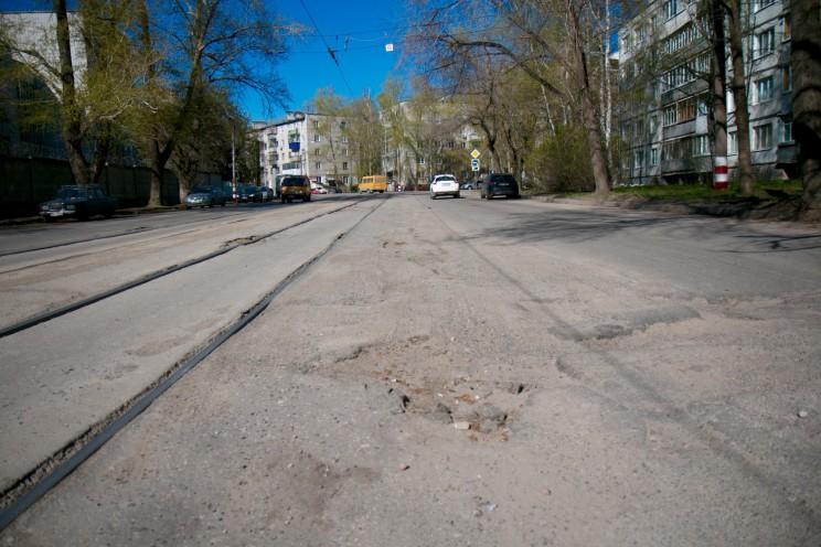 """Как """"отремонтировали"""" дороги на ул. Можайского в Ульяновске"""