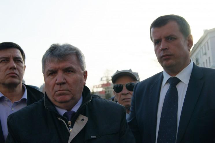 Глава Ульяновска Сергей Панчин и глава администрации Ульяновска Алексей Гаев