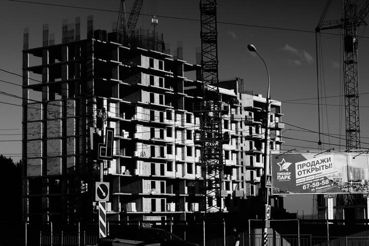 """ЖК """"Пионер парк"""". Этап строительства 16 августа 2016 года"""