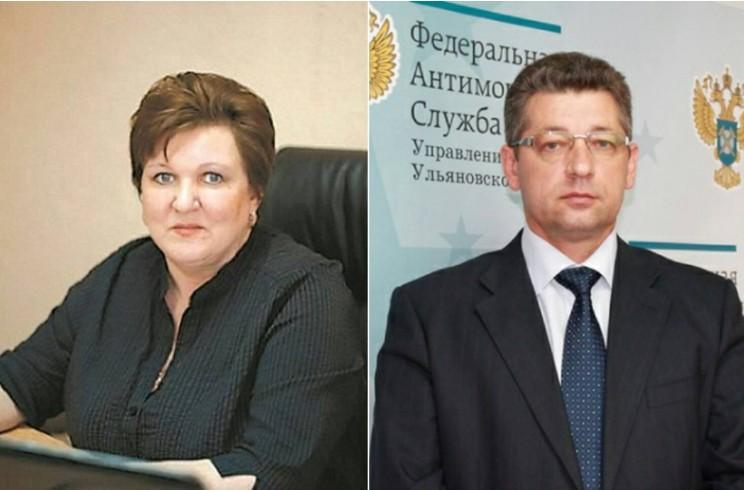 Директор фонда модернизации ЖКК Ульяновской области Нина Сидоранова (слева) и руководитель управления ФАС по Ульяновской области Геннадий Спирчагов (справа).