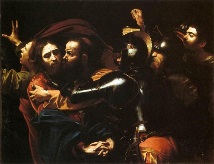 Поцелуй Иуды, картина работы Караваджо