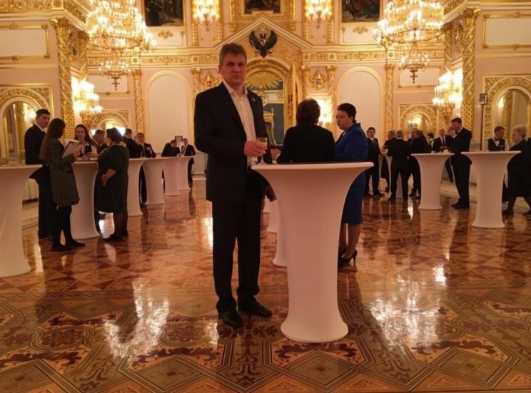 Алексей Куринный в Кремле, перед выступлением президента России с посланием к Федеральному Собранию России, 1 декабря 2016 года.