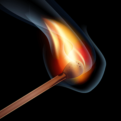 пожар спичка