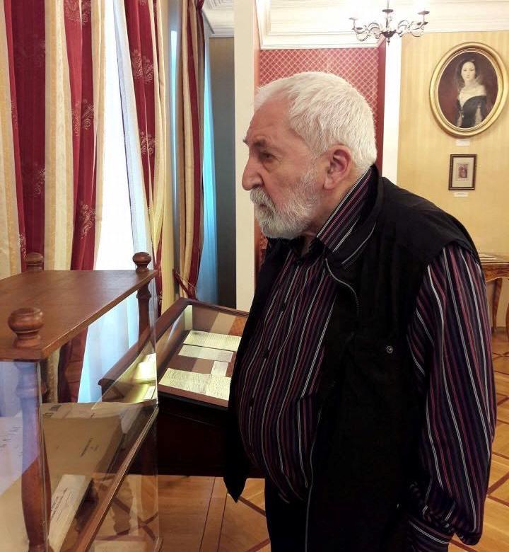 Алексей Симонов в ульяновском музее Ивана Гончарова.