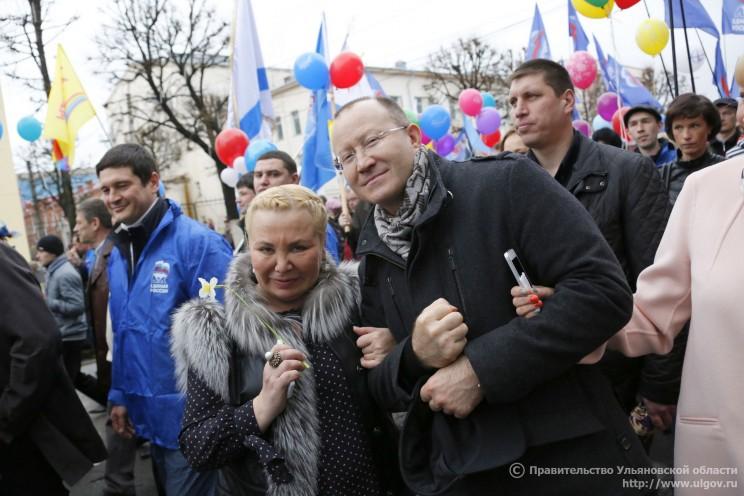 Балакишиева на митинге в мае 2014 года
