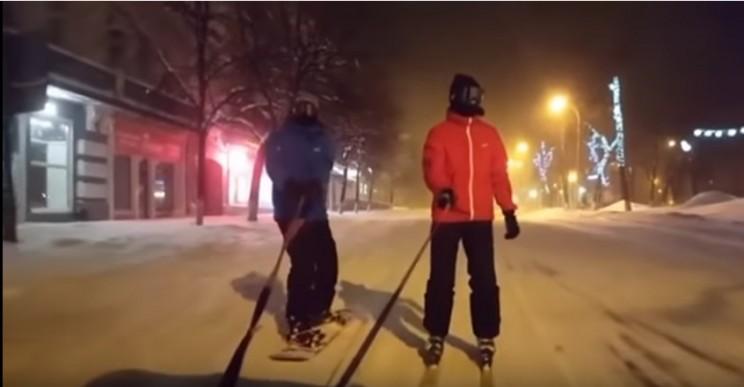 ваз 2114 сноуборд лыжи