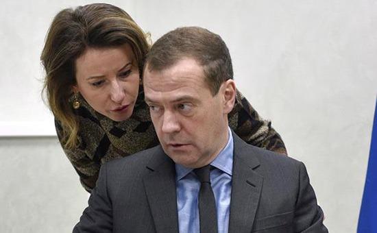 Дмитрий Медведев и Наталья Тимакова.
