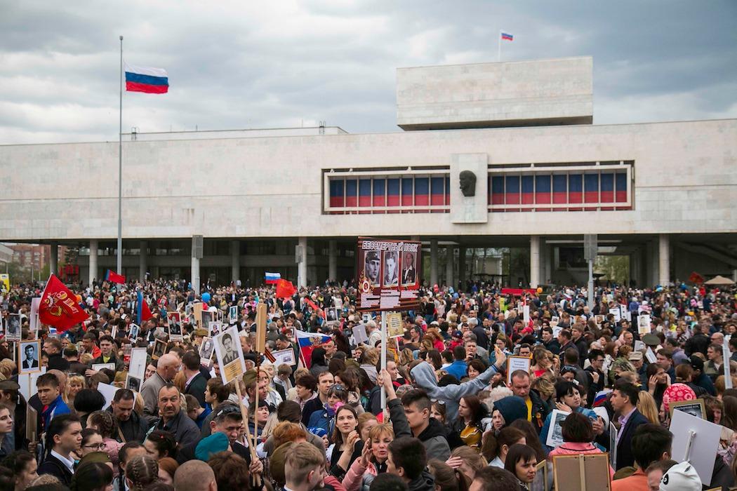 Празднование Дня Победы в Ульяновске