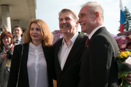 Актер Сергей Баталов и супруги Морозовы