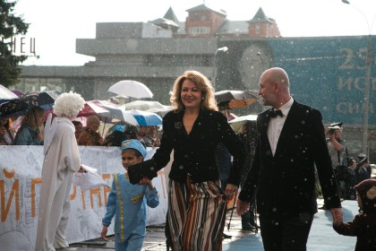Елена Чарквиани и актер Алексей Бобров