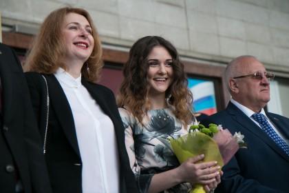 Елена Морозова (председатель жюри кинофестиваля) и актриса Вероника Лысакова (президент кинофестиваля)