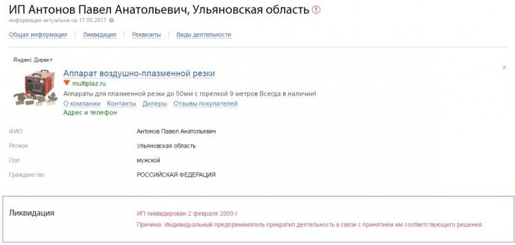 ИП Антонов Павел Анатольевич