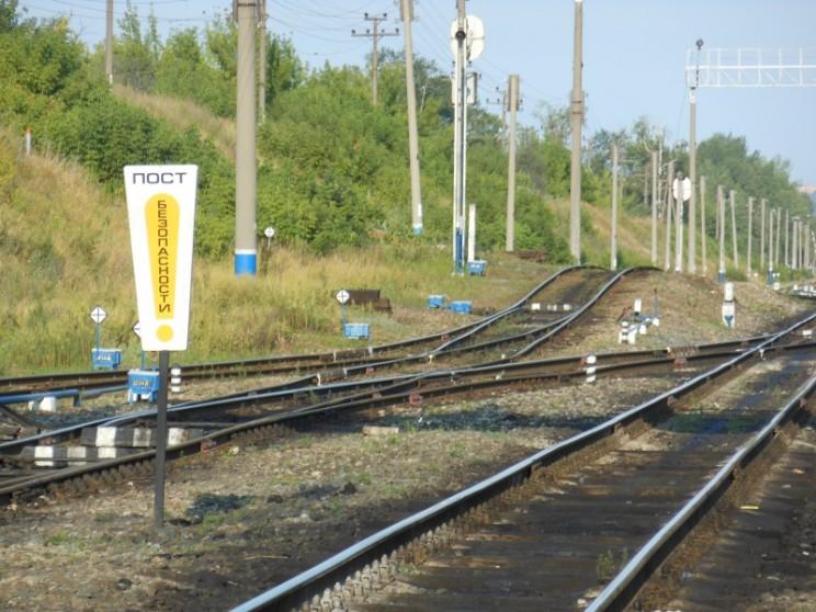 Железнодорожные пути около станции Верхняя Терраса в Ульяновске.