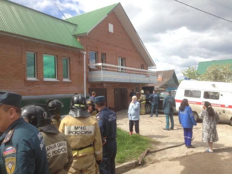место пожара на в Ленинском районе Ульяновска