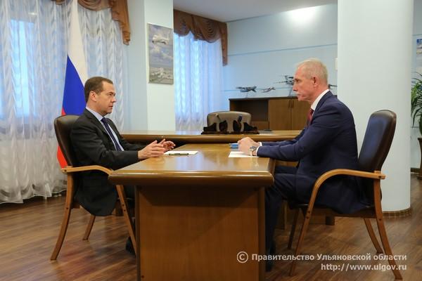 7 июня Дмитрий Медведев провел встречу с Губернатором Сергеем Морозовым на территории АО «Авиастар-СП» - 5