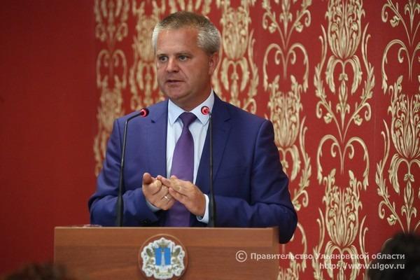 Александр Чепухин во время первого заседания общественной палаты Ульяновской области 6-го созыва.