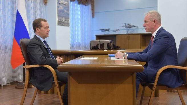 Дмитрий Медведев и Сергей Морозов