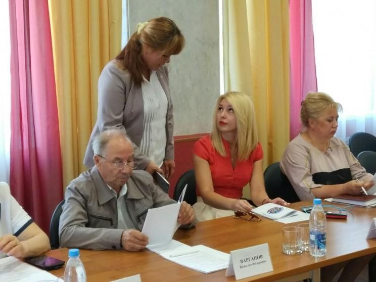 Ольга Богородецкая на первом заседание ОП УО, 29 июня 2017