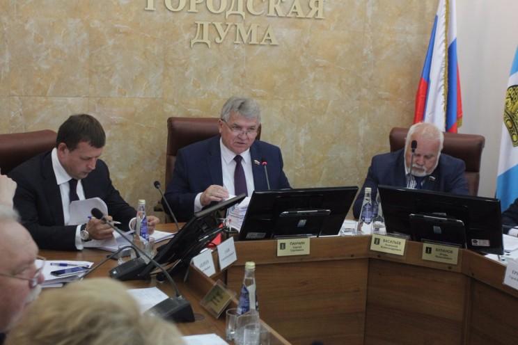 Сергей Панчин во время отчета о работе за 2016 год.