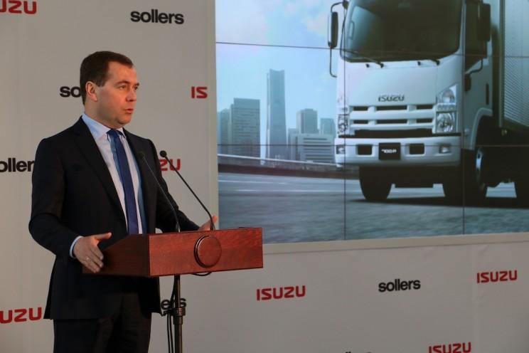 В 2014 году Медведев открыл производство Исузу в Ульяновске - 3