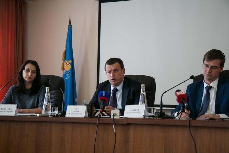 Слева направо: Юлия Шагаева, Алексей Гаев, Вадим Андреевю