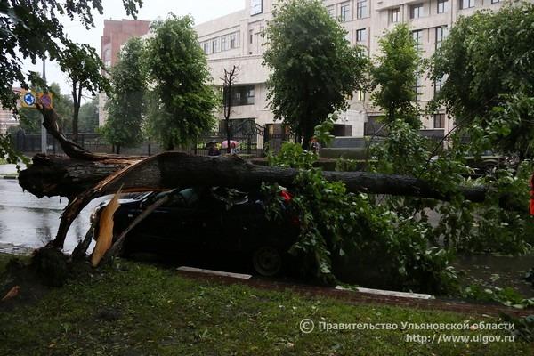 Дождь в Ульяновске, 5 июля 2017