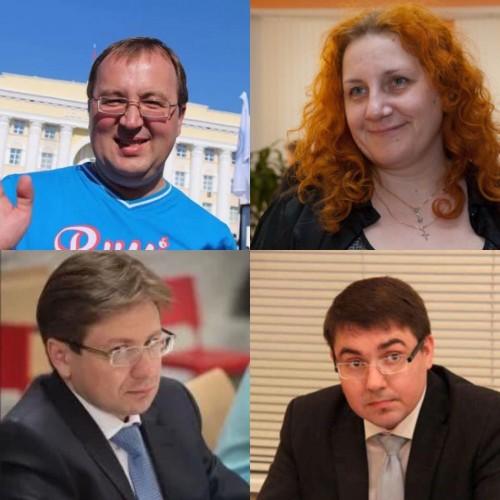 Сергей Кузьмин (слева вверху), Оксана Солнцева (слева вверху), Рустем Давлятшин (слева внизу), Руслан Гайнетдинов (справа внизу),