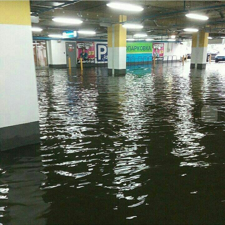 Парковка аквамолла