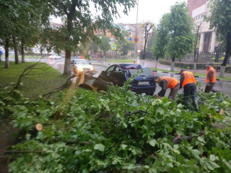 Последствия сильнейшего шторма в Ульяновске. 6 июля 2017 года.
