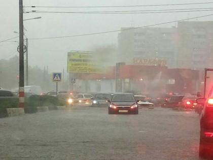 Потоп в Ульяновске, 5 июля 2017 года.