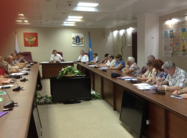Совещание в комитете ЗСО по ГУК Ленинского района, 13 июля 2017 года