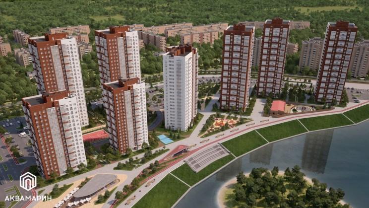 """Актуальный проект освоения засыпанной Свияги носит название жилого комплекса """"Аквамарин""""."""