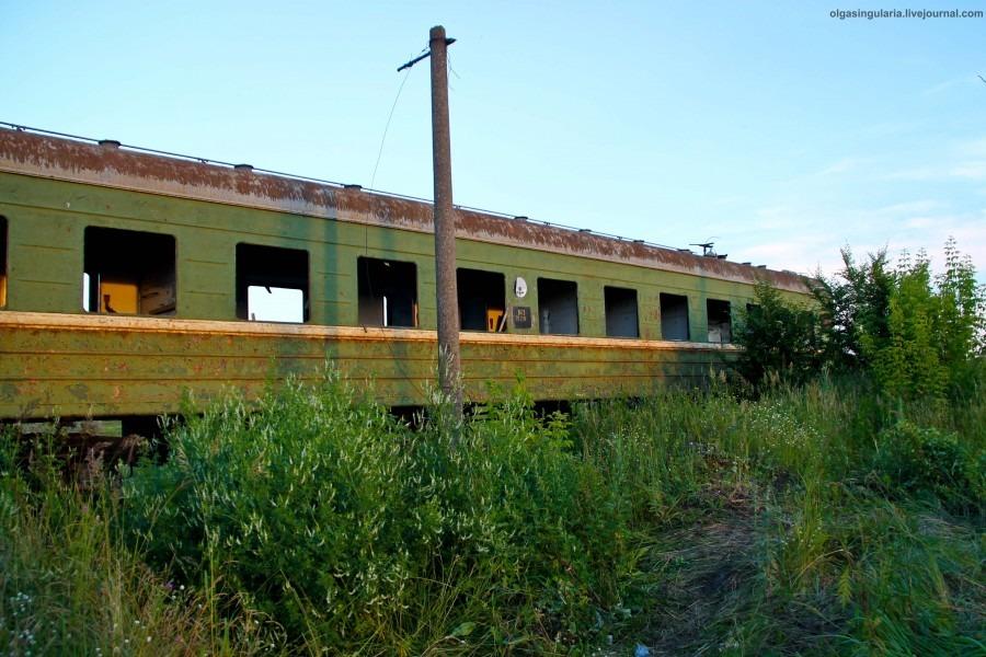 Кладбище поездов в Ульяновске