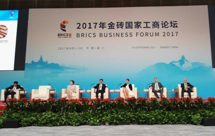 Сергей Морозов на деловом форуме саммита БРИКС, 4 сентября 2017