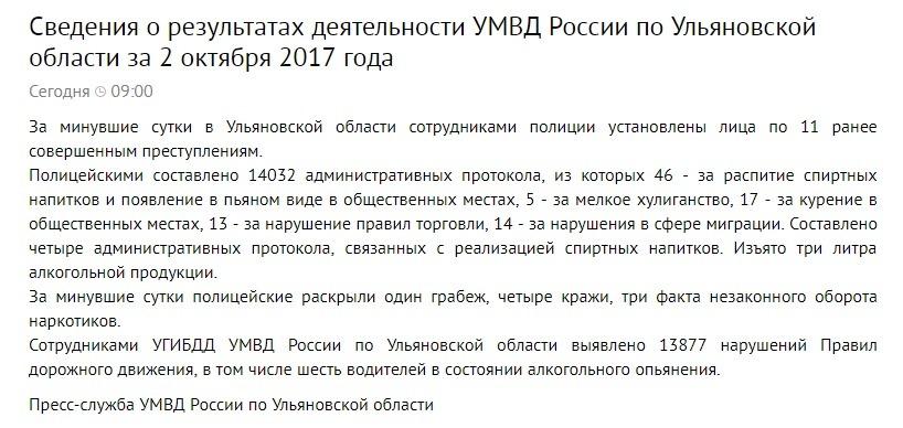 Полицейские Ульяновской области составили 14032 административных протокола за сутки