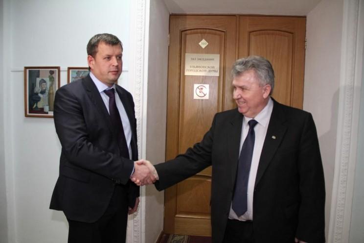 Глава администрации Ульяновска Алексей Гаев и глава Ульяновска Сергей Панчин.