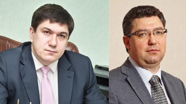 Бывший министр здравоохранения Ульяновской области, ныне - заместитель губернатора Павел Дегтярь (слева) и нынешний министр здравоохранения Рашид Абдуллов (справа).
