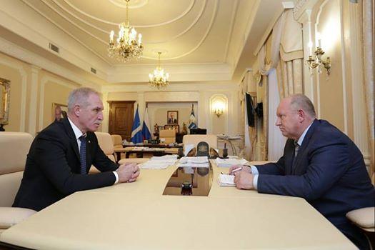 Сергей Морозов и Владимир Лазарев, 7 ноября 2017