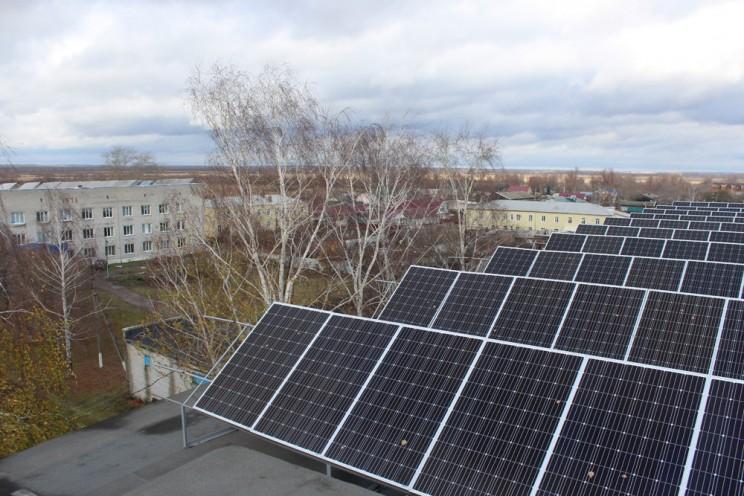 Солнечные батареи больница Ишеевка