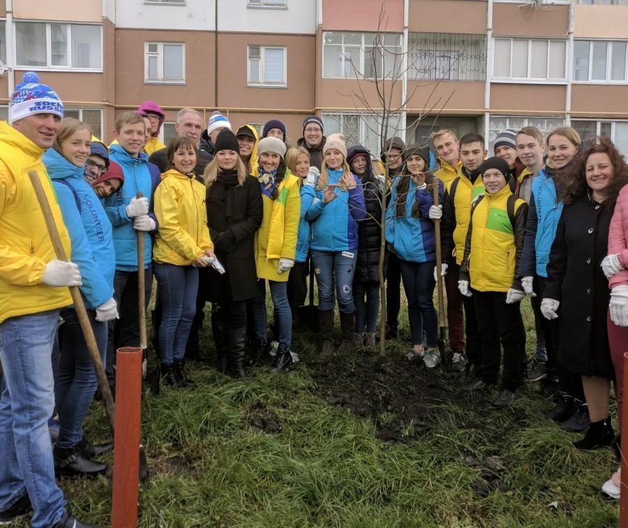 Участники Всемирного фестиваля молодежи и студентов высадили аллею в Ульяновске