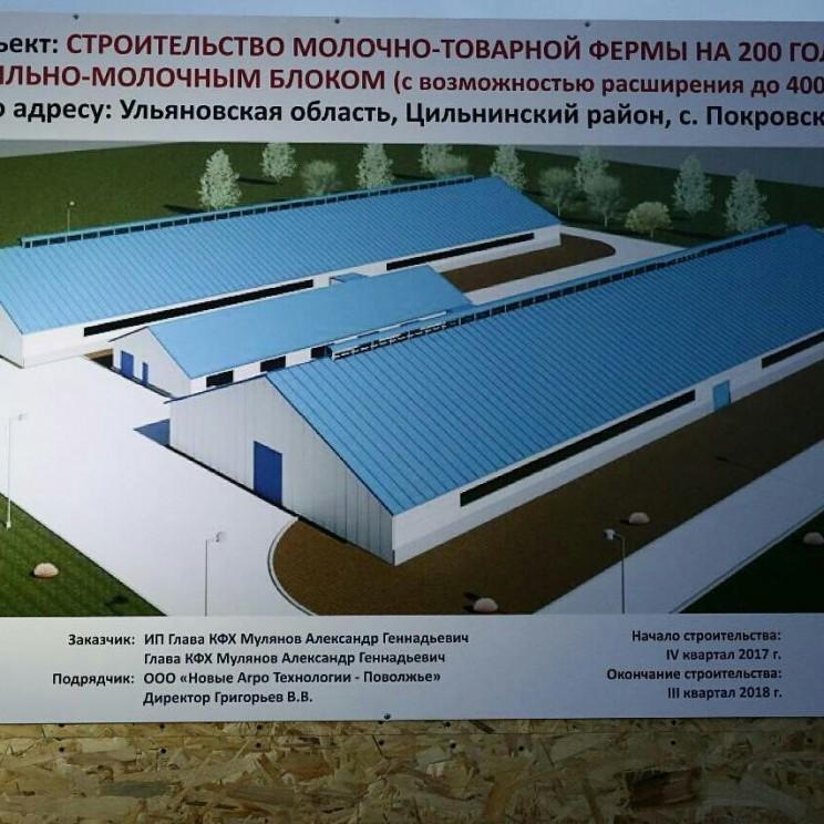 Животноводческий комплекс на 200 голов в селе Покровское Цильнинского района - 2